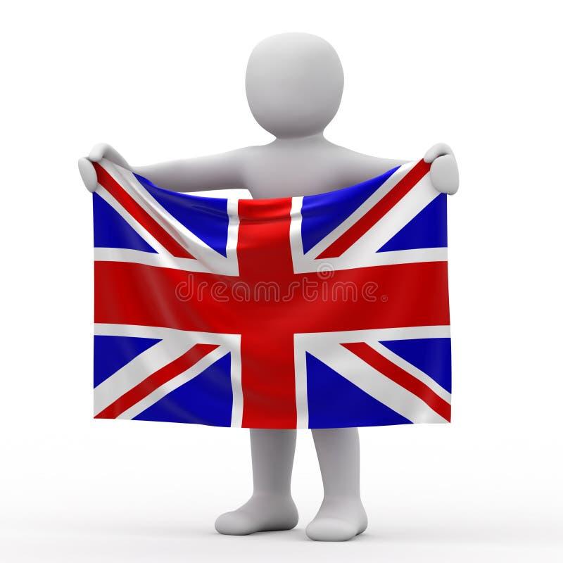 Bandierina dell'Inghilterra. illustrazione di stock