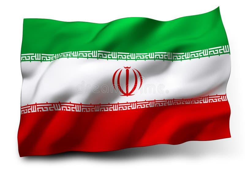 Bandierina dell'Iran illustrazione di stock