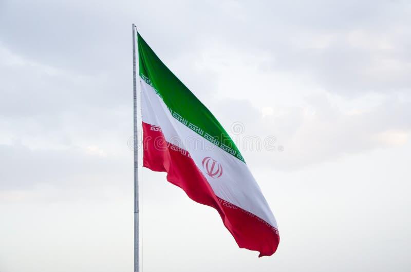 Bandierina dell'Iran immagini stock