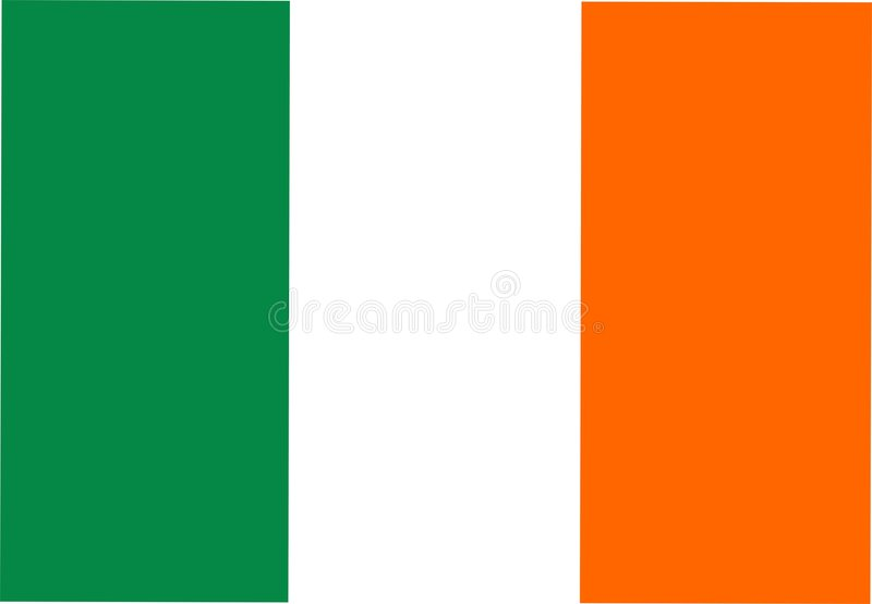 Bandierina dell'Irlanda illustrazione vettoriale