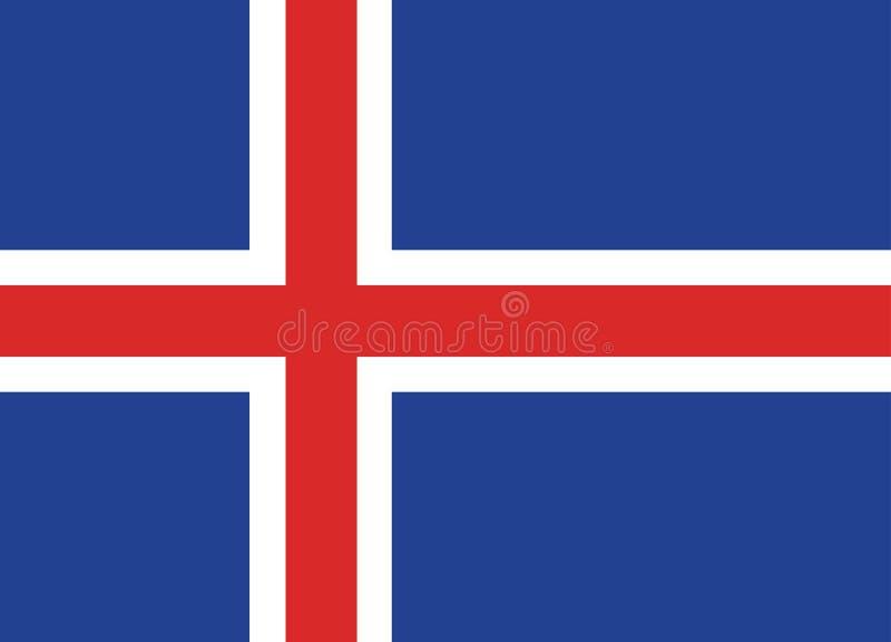 Bandierina dell'Islanda fotografie stock