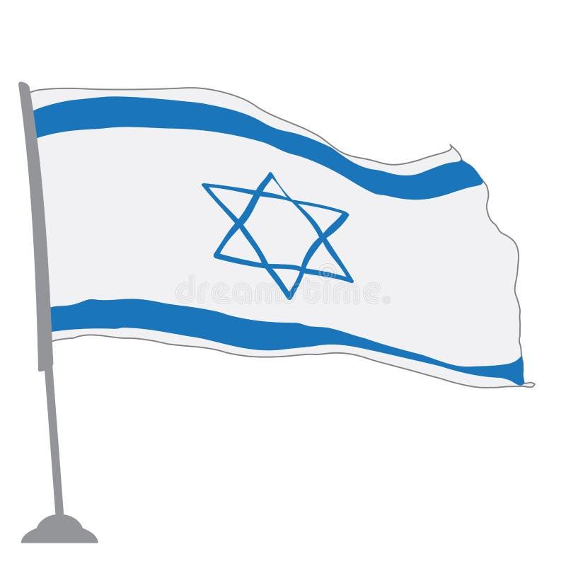 Bandierina dell'Israele royalty illustrazione gratis