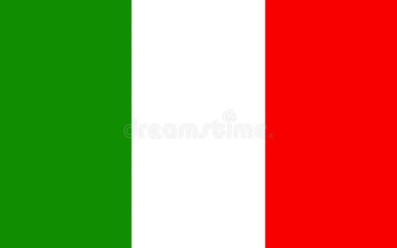 Bandierina dell'Italia illustrazione di stock