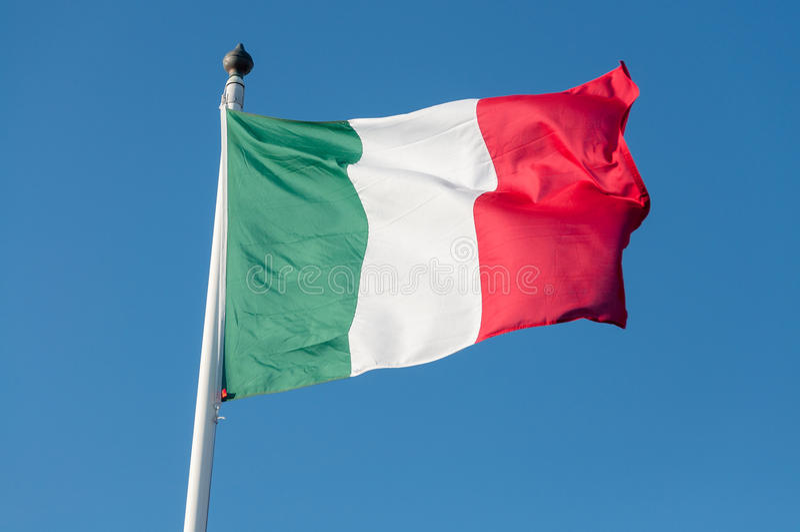 Bandierina dell'Italia immagine stock libera da diritti