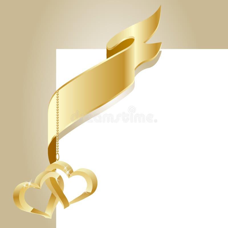 Bandierina dell'oro royalty illustrazione gratis