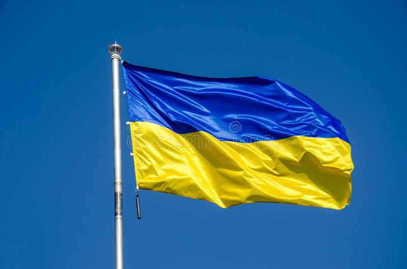 Bandierina dell'Ucraina fotografia stock libera da diritti