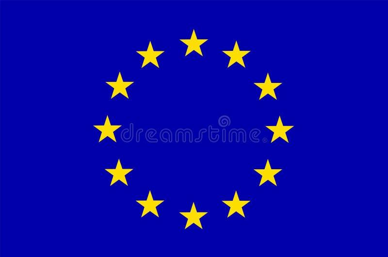 Bandierina dell'Ue Europa illustrazione vettoriale