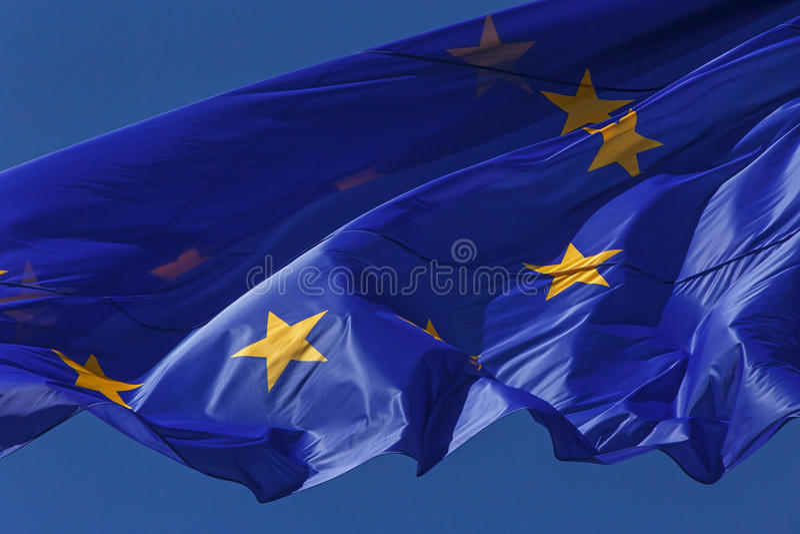 Bandierina dell'unione europea fotografie stock