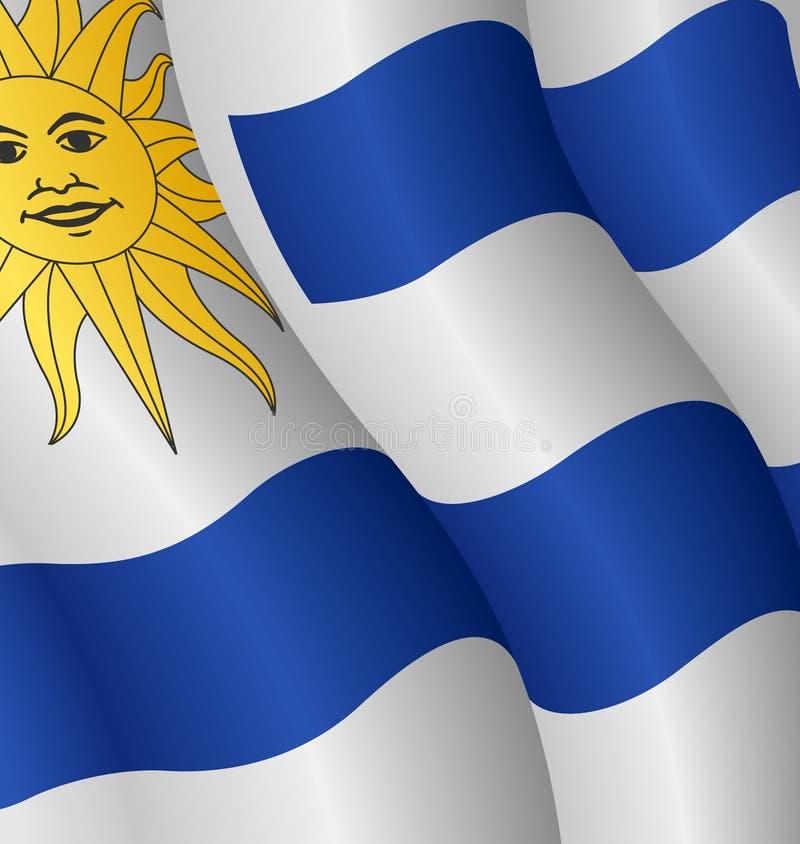 Bandierina dell'Uruguai illustrazione di stock