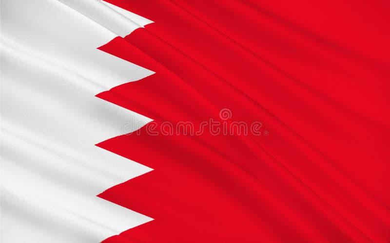 Bandierina della Bahrain royalty illustrazione gratis