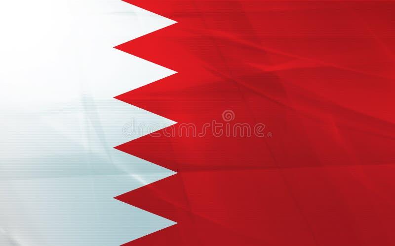 Bandierina della Bahrain illustrazione vettoriale