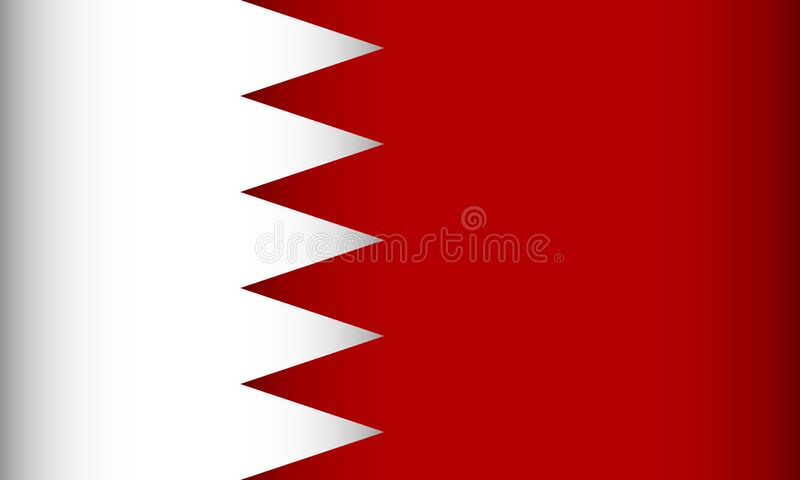 Bandierina della Bahrain illustrazione di stock