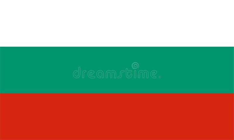 Bandierina della Bulgaria illustrazione vettoriale