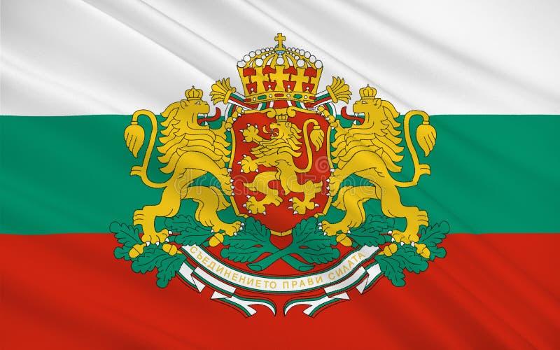 Bandierina della Bulgaria immagine stock