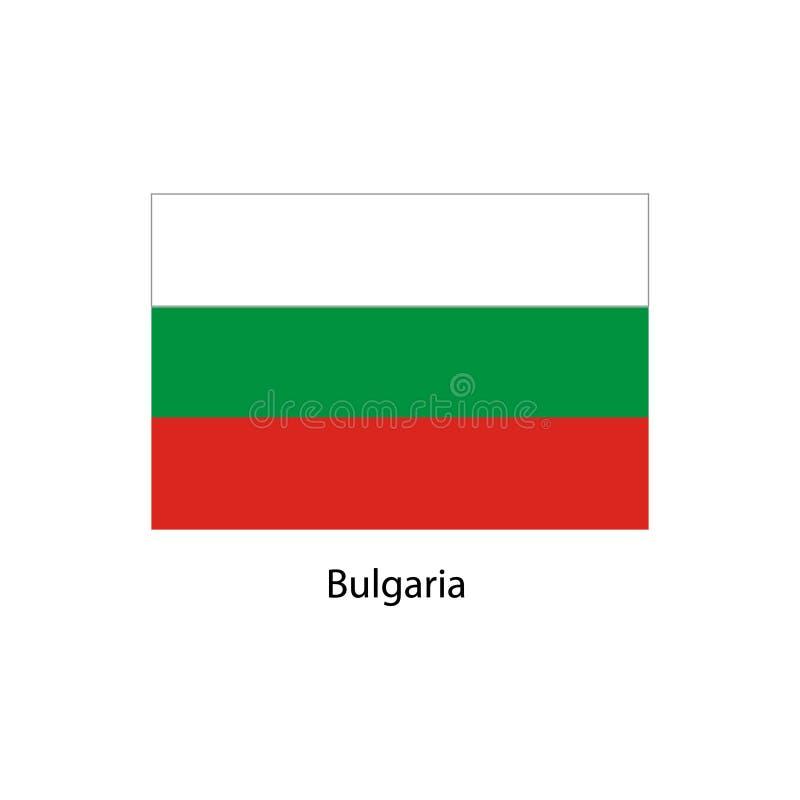Bandierina della Bulgaria Colori e proporzione ufficiali correttamente Bandiera nazionale della Bulgaria Illustrazione di vettore illustrazione di stock
