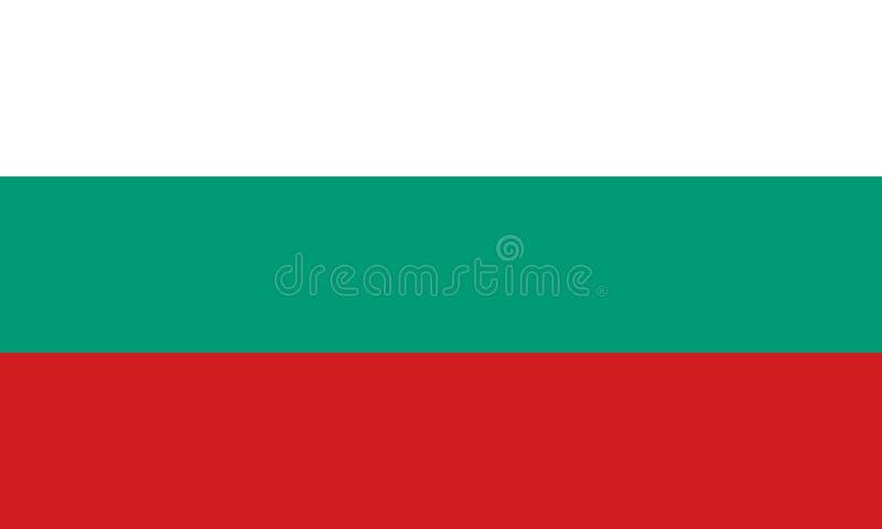 Bandierina della Bulgaria Colori ufficiali Proporzione corretta Vettore illustrazione di stock