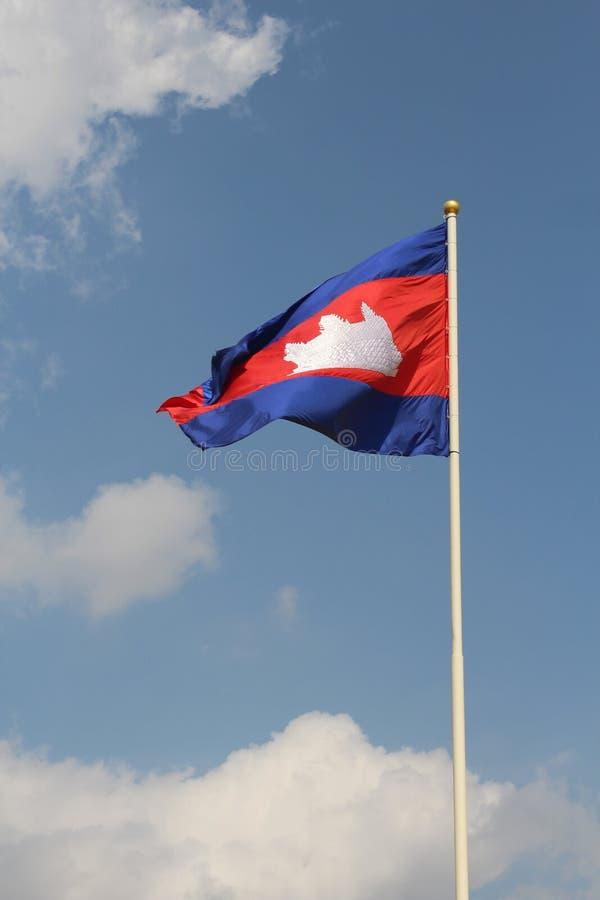 Bandierina della Cambogia fotografia stock