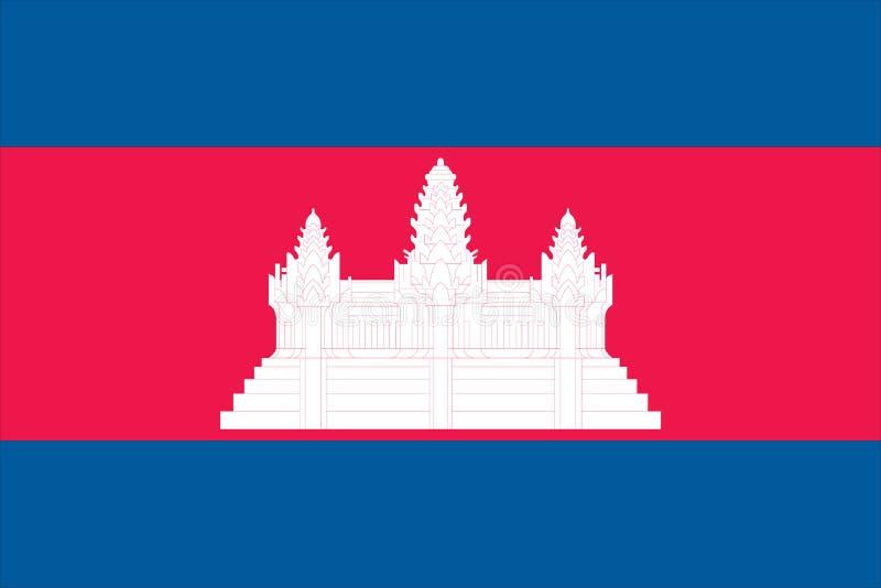 Bandierina della Cambogia royalty illustrazione gratis