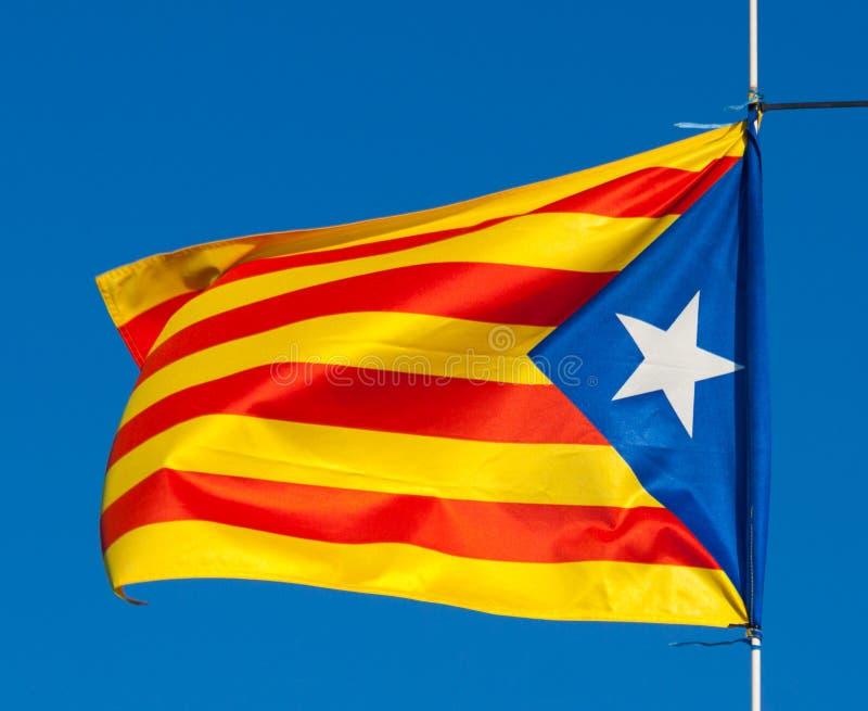 Bandierina della Catalogna fotografia stock libera da diritti