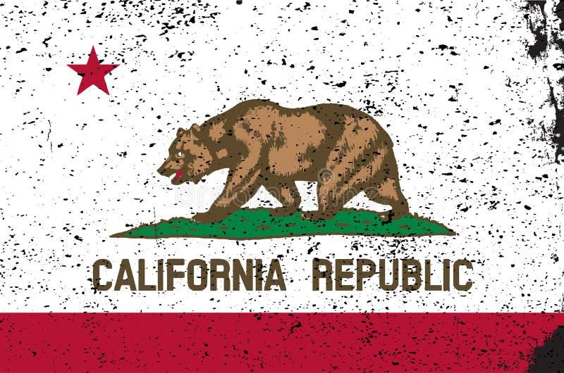 Bandierina della condizione della California illustrazione vettoriale
