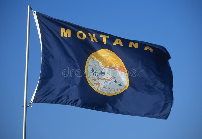 Bandierina della condizione del Montana immagine stock