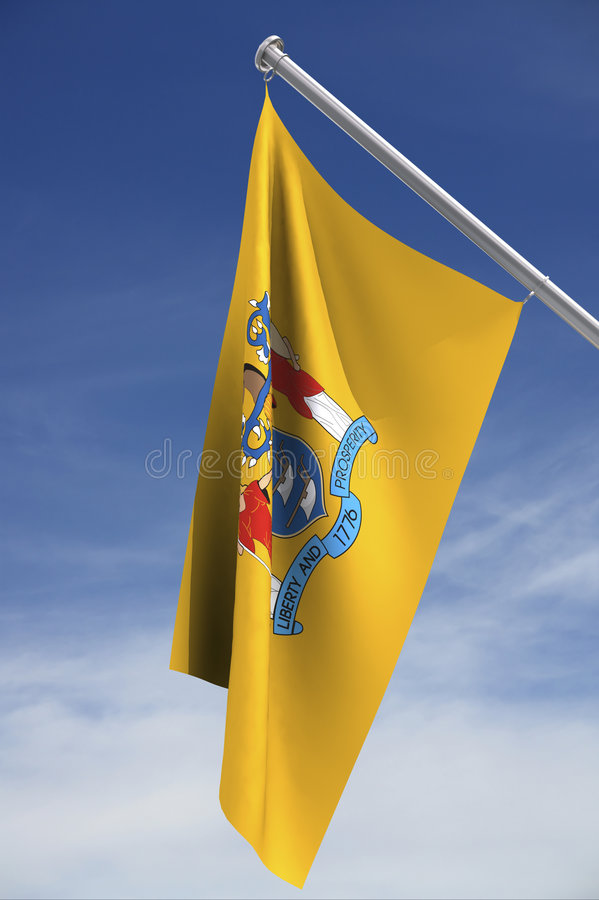 Bandierina della condizione del New Jersey royalty illustrazione gratis