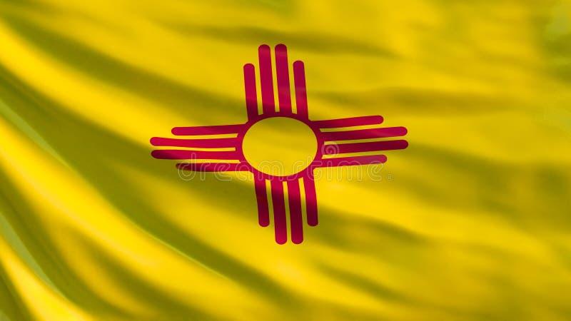 Bandierina della condizione del New Mexico illustrazione 3D illustrazione vettoriale