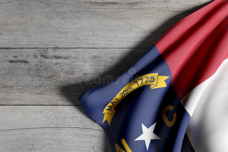 Bandierina della condizione del North Carolina royalty illustrazione gratis