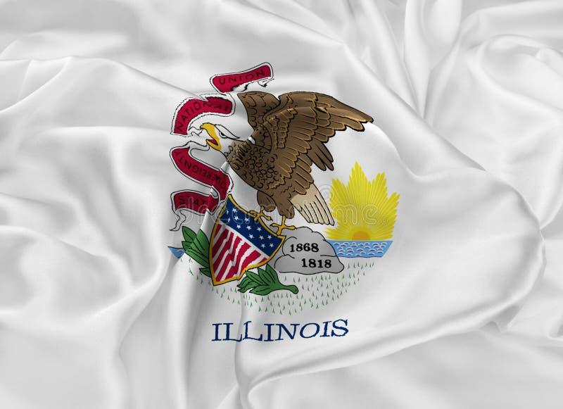 Bandierina della condizione dell'Illinois illustrazione di stock