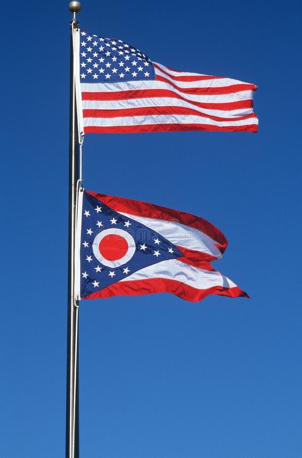 Bandierina della condizione dell'Ohio fotografie stock libere da diritti
