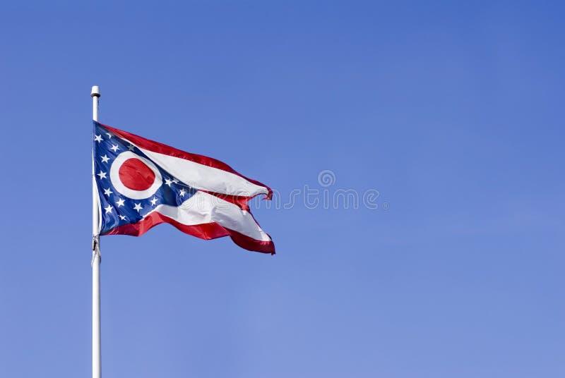 Bandierina della condizione dell'Ohio immagini stock libere da diritti