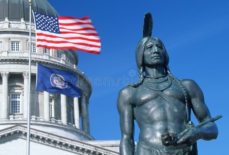 Bandierina della condizione dell'Utah fotografia stock libera da diritti