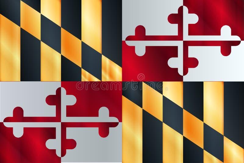 Bandierina della condizione di Maryland illustrazione vettoriale