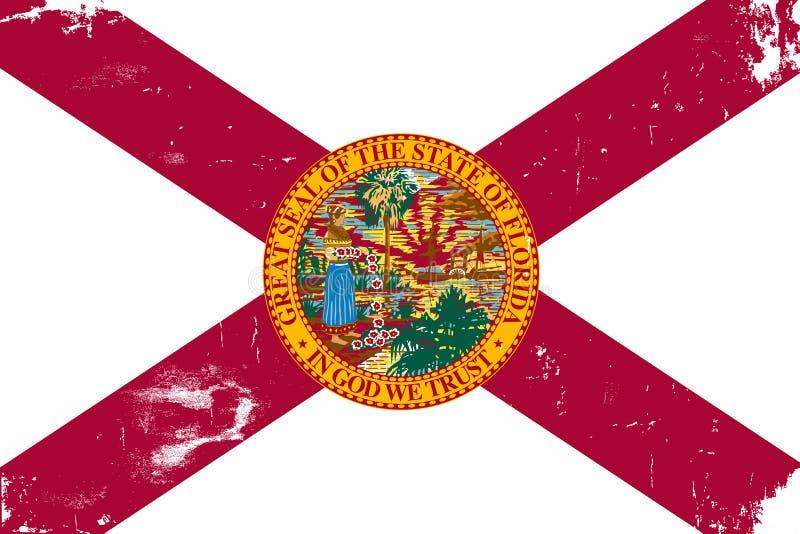 Bandierina della condizione della Florida royalty illustrazione gratis