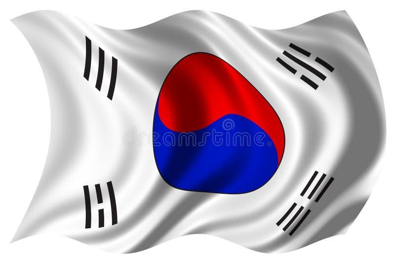 Bandierina della Corea isolata royalty illustrazione gratis