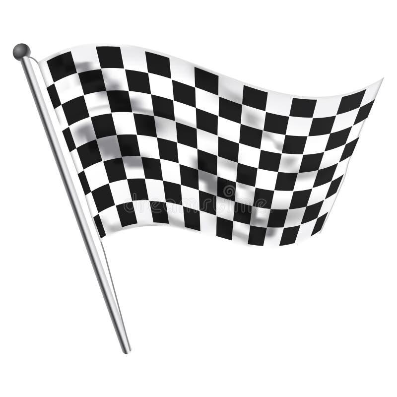 Bandierina della corsa illustrazione vettoriale