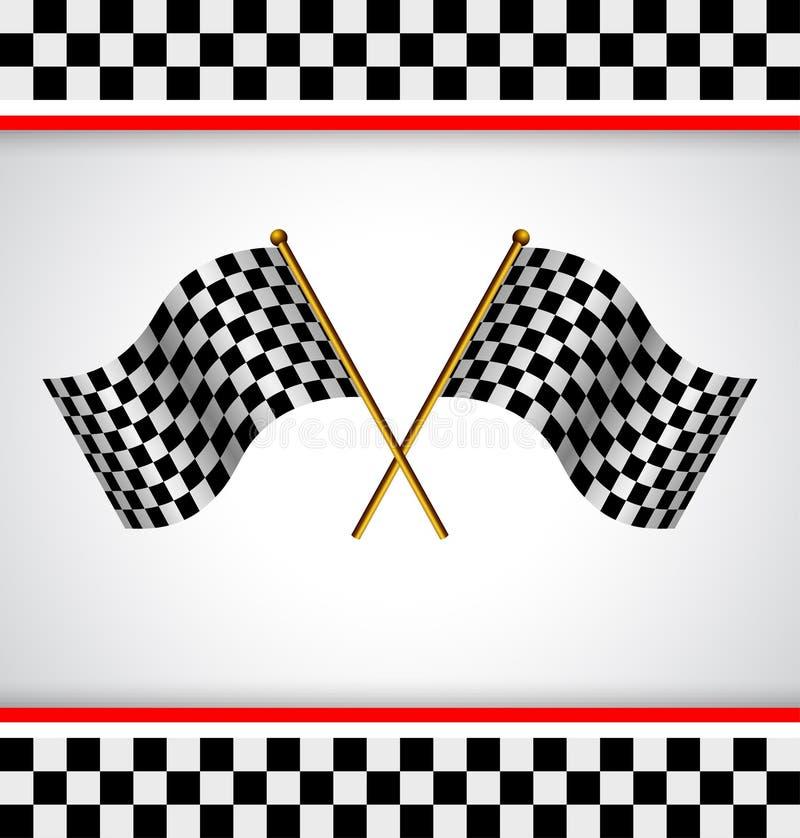 Bandierina della corsa royalty illustrazione gratis