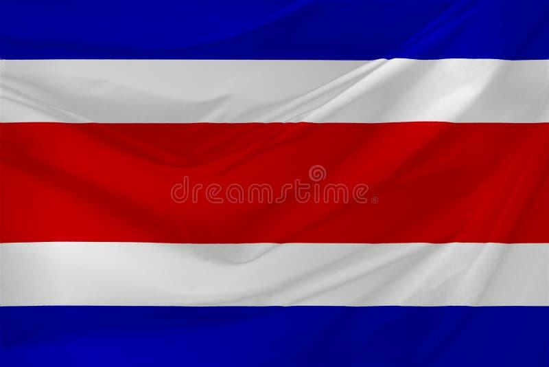Bandierina della Costa Rica illustrazione vettoriale
