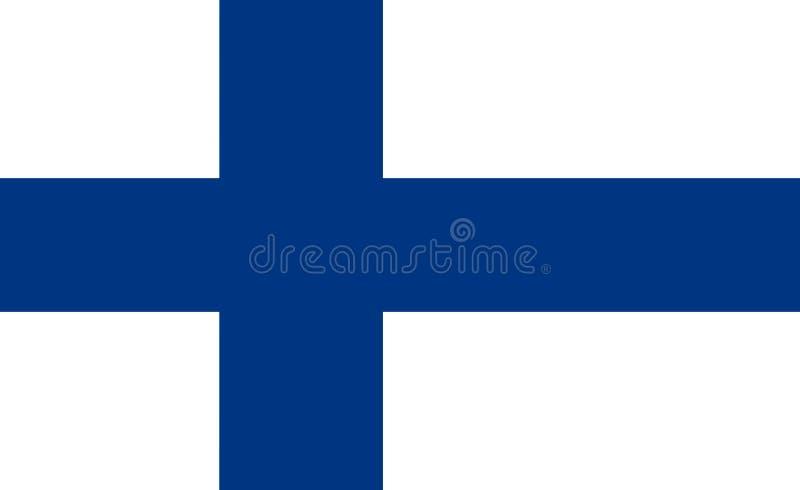 Bandierina della Finlandia royalty illustrazione gratis