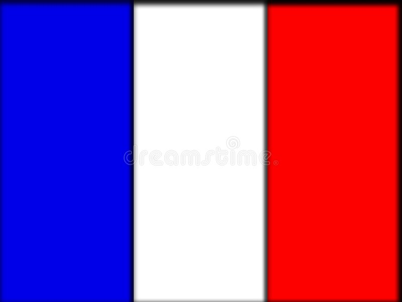 Bandierina della Francia illustrazione vettoriale