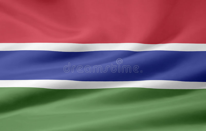 Bandierina della Gambia royalty illustrazione gratis