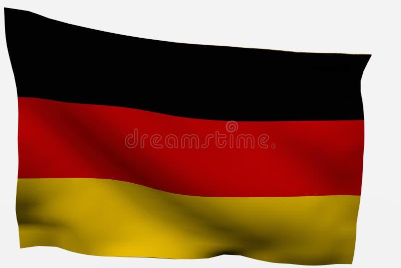 Bandierina della Germania 3d immagine stock