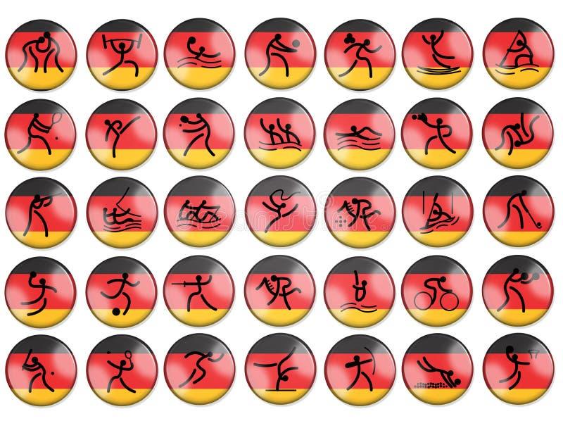Bandierina della Germania dei simbols del gioco di estate di Olimpic illustrazione vettoriale