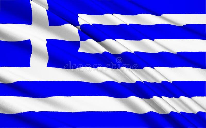 Bandierina della Grecia illustrazione di stock
