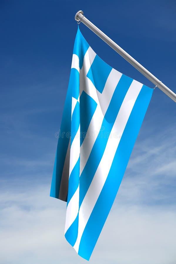 Bandierina della Grecia immagine stock