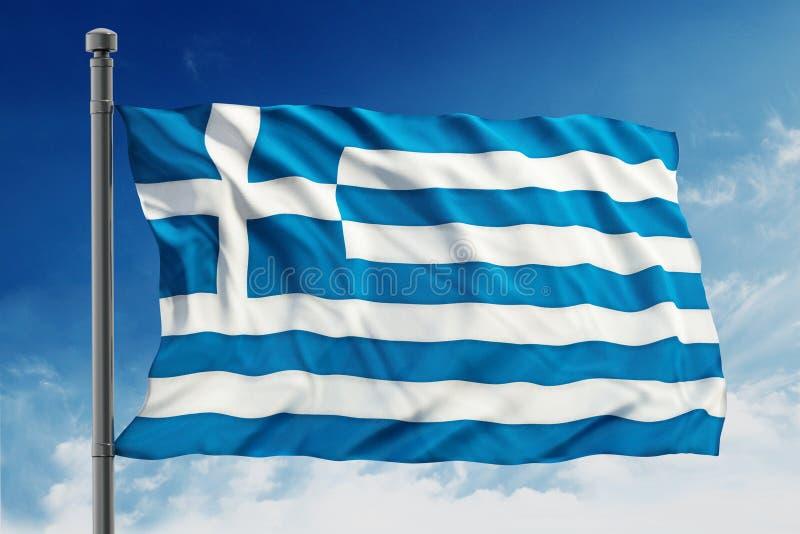 Bandierina della Grecia fotografie stock
