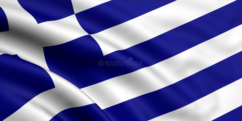 Bandierina della Grecia royalty illustrazione gratis