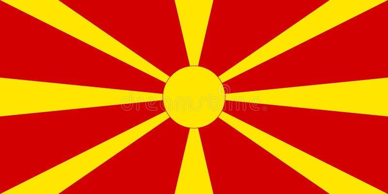 Bandierina della Macedonia illustrazione vettoriale