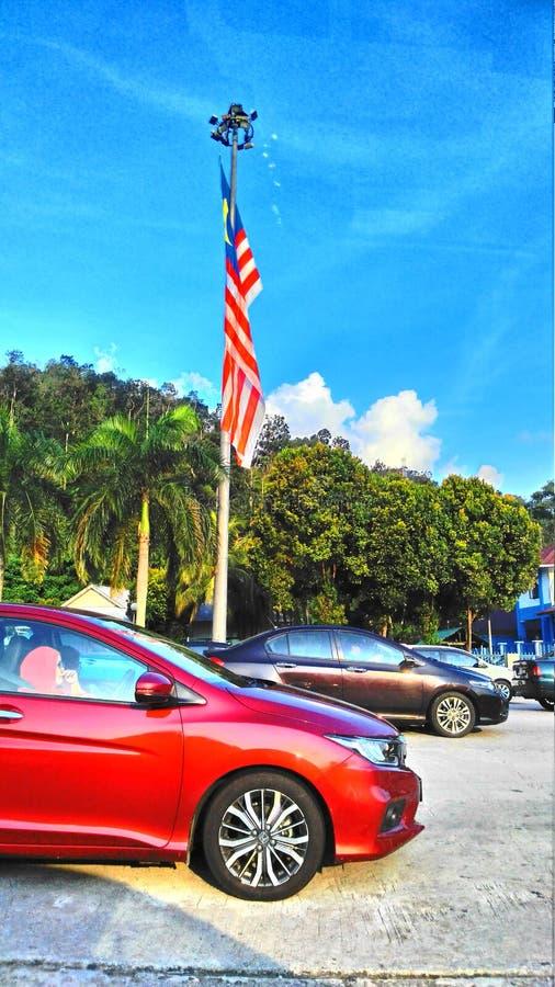 Bandierina della Malesia fotografie stock libere da diritti