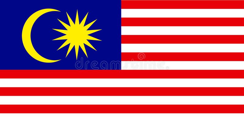 Bandierina della Malesia royalty illustrazione gratis